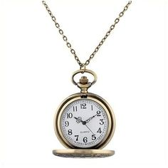 Amazon.com: CSMARTE Roman Pocket Watch Bronze Dial Open Faced Roman... ($9.83) ❤ liked on Polyvore featuring jewelry, watches, roman numeral pocket watch, vintage watches, dial watches, bronze jewelry and roman numeral watches