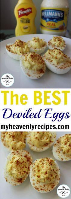 Classic Deviled Eggs Recipe is THE BEST egg recipe! An easy appetizer recipe. #eggs #deviledeggs #appetizer #appetizerrecipe