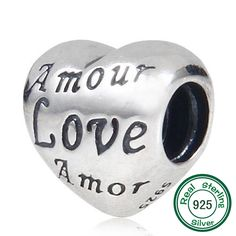 Love Letter Charm Beads Original 100% Authentic 925 Sterling Silver Beads fits Pandora Charms bracelets & Necklaces #Affiliate