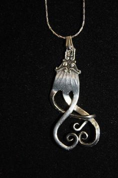 antique silverware jewelry