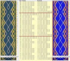 24 tarjetas, 3 colores, repite cada 20 movimientos // sed_776 diseñado en GTT༺❁