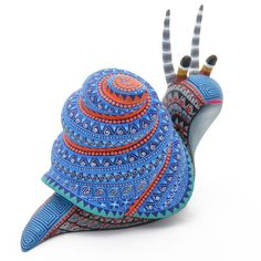 Paper Mache Sculpture, Sculpture Art, Snail Art, Paper Mache Animals, Atelier D Art, Mexican Designs, American Indian Art, Paperclay, Mexican Folk Art