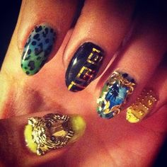 champagne-paradise:    naominailsnyc:    #TBT this nail was my first instagram post ever. @h @versace_official      xo