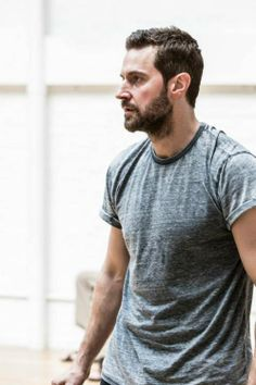 Richard Armitage rehearsing scenes from The Crucible, Old Vic Theater, London, June 2014.