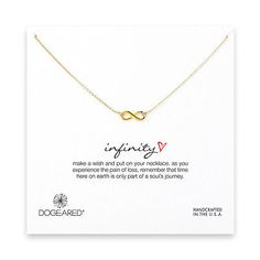 Dogeared Infinity Necklace- Gold - http://designerjewelrygalleria.com/dogeared/dogeared-infinity-necklace-gold/