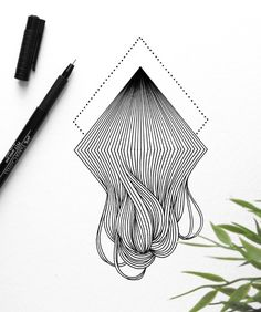 Mesmerizing Line-Based Illustrations of Atoms and Lines | Doodlers Anonymous