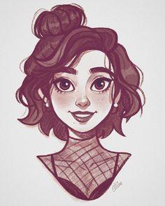 54 trendy ideas for art girl drawing character sketches faces Girl Drawing Sketches, Cute Sketches, Cartoon Girl Drawing, Drawing Art, Drawing Tips, Drawing Poses, Sketches Of Girls, Cute Boy Drawing, Little Girl Cartoon
