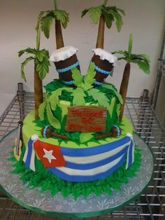 Cuban Bongos Birthday cake.