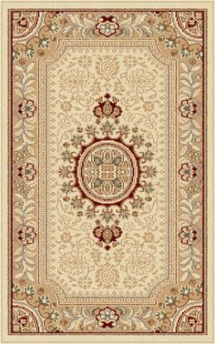 Enjoy elegance without sacrifice with this accent rug. This highly detailed oriental medallion rug is made in shades of creamy beige and tan, with bold green, red, and black highlights. The classic design will bring new life to any room. It is constructed of 100% polypropylene for lasting quality. This engaging pattern is available in multiple sizes to create a harmonized look throughout your home. Rug Details: http://www.searsrugs.com/index.php/rugs/traditional/sensation-4672-beige.html