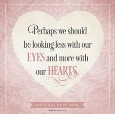"""""""I love the quote: 'One sees clearly only with the heart. Anything essential is invisible to the eyes.' We are commanded 'to give thanks in all things.' So isn't it better to see even the small things we can be thankful for, rather than magnifying the negative in our current condition?"""" From #PresUchtdorf's pinterest.com/pin/24066179228856353 inspiring #LDSconf facebook.com/223271487682878 message lds.org/general-conference/2012/10/of-regrets-and-resolutions #ShareGoodness"""