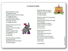 Paroles de La chanson du public maternelle : Quand s'illumine le cirque, On frappe des mains, Quand l'orchestre fait d'la musique, On frappe des mains...