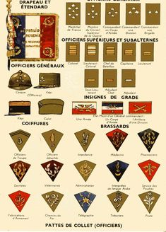 Ligne-maginot.fr :: Voir le sujet - Demande de documentation, uniforme French Armed Forces, Military Cards, Army Ranks, Military Insignia, Mystery Of History, French Army, France, Vietnam War, World War Ii