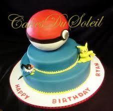 Un A4 Pokemon//Pokeball Cake Topper Glaçage