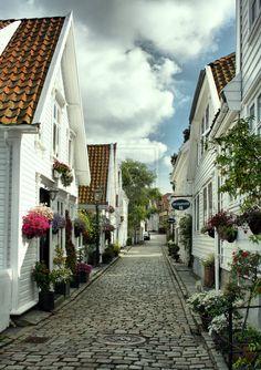 Beautiful norwegian street