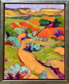 """Gregory Frank Harris, """"Galisteo, No. 11"""", oil on panel, 20×16 inches"""