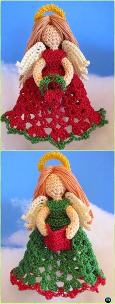 Crochet Littlest Angel Christmas Ornaments Free Pattern - Crochet Angel Free Patterns