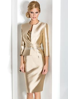 Gold mother of the bride dress with jacket yes Mother of the bride