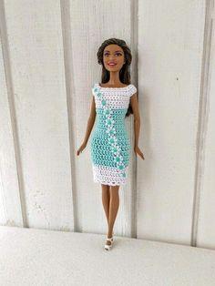 Barbie clothes Barbie Crochet Dress for Barbie Doll  crochetdresses Barbie  Et Ken a3e20fb84572