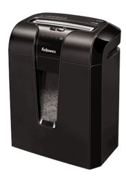 """The Powershred® 63Cb Cross-Cut Shredder features Jam Blocker™ technology. Jam Blocker blocks jams before they start. The SafeSense® Technology stops shredding when hands touch the paper opening. The Energy Savings System provides optimal energy efficiency 100% of the time – in use and out of use. The 63Cb shreds 10 sheets per pass into 5/32""""x 2"""" cross-cut particles (Security Level P-3). Shreds for up to 8 minutes before a 20 minute cool down period is needed. Features a 5 gallon pull-out…"""