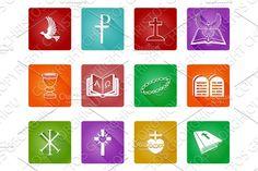 Christian Icon Set by Christos Georghiou on @creativemarket