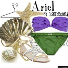 Disney inspired outfit. Bikini like Ariel