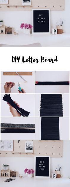 DIY Letter Board - Rillentafeln aus Filz selber machen - Basteln mit Filz. Wanddekoration.