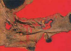 Rosso e Sacco by Alberto Burri