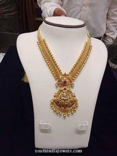 November 2015 ~ Page 11 of 15 ~ South India Jewels Gold Temple Jewellery, Gold Jewellery Design, India Jewelry, Gold Necklace Simple, Gold Jewelry Simple, Gold Earrings Designs, Necklace Designs, Jewelry Model, Bridal Jewelry