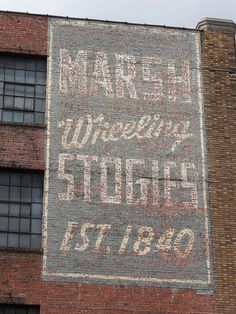 Marsh Stogies Ghost sign-Wheeling WV by retrosigns, via Flickr