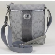 Perfect for the holidays! Coach Silver Signature Swingpack Crossbody Bag- $59.95 #moshposh