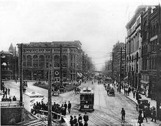 Photo 1904 Seattle Washington 1st Cherry Streets Streetcar | eBay