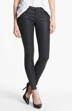 60.78$  Watch now - http://viwmc.justgood.pw/vig/item.php?t=zzhtfm59760 - NWT $205 AG Adriano Goldschmied Black Slick Coated Legging Skinny Jeans 30 60.78$