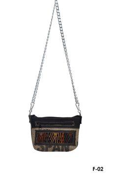 Ethnic textile & burlap crossbody bag/ Ecofriendly by IKALA