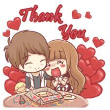 Centilia & Raei : Couples by GnK Studio sticker I Love You Girl, Chibi Couple, Emoji Stickers, Cute Love Cartoons, Cute Messages, Gifs, Line Store, Line Sticker, Anime Chibi