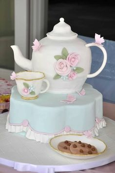 best tea party cake ever!!! parties by The Pink Peach - cake by Slice great for Mother's Day..
