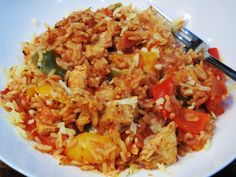 Syn Free One Pot Cajun Chicken & Rice – Basement Bakehouse Syn Free One Pot Cajun Chicken & Rice Bake – Slimming World – Recipe – Recipes – Dinner – Easy – Simple – Video – Recipe Cajun Chicken And Rice, Chicken Rice Recipes, Cajun Rice, Pepper Chicken, Lime Chicken, Creamy Chicken, Bbq Chicken, Baked Chicken, Slimming World Dinners