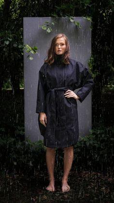 BRGN by Lunde & Gaundal, Bris Poncho, Caviar Black Caviar, Raincoat, High Neck Dress, Lifestyle, Inspiration, Black, Dresses, Women, Fashion