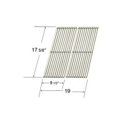 2 PACK STAINLESS STEEL COOKING GRID FOR DYNA-GLO, BRINKMANN AND MASTER FORGE GAS GRILL MODELS  Fits Dyna-Glo Models: DGP350NP  BUY NOW @ http://grilltown.com/shopexd.asp?id=7494&sid=5139