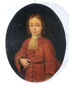 Scuola Lombarda del XVII secolo, Coppia di ritratti di ragazzi olio su tavola, cm 63x49 — Paintings, Old Masters, 19th Century, Modern Art, Contemporary Art