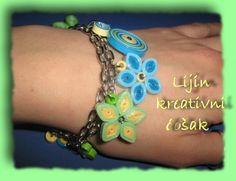 quilled bracelet, handmade