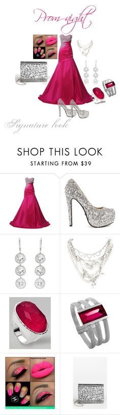 """""""Prom night"""" by coveredgirlx ❤ liked on Polyvore featuring NLY Trend, Andrea Fohrman, Tom Binns, Ippolita, Baccarat and Jimmy Choo"""