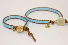 Vintage Blue handmade mother/daughter wraps