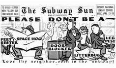 Retro Ad of the Week: NYC Subway Courtesy, 1953