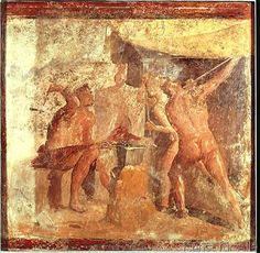 Römisch - The Forge of Vulcan, from House VII, Pompeii, c.50-79 AD