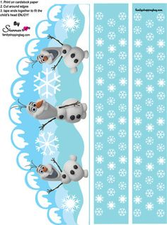 Free Printable Olaf from Frozen Birthday Crown!