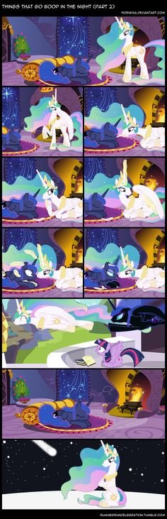 Things That Go Boop in the Night (Part 2) by 90Sigma.deviantart.com on @deviantART My Little Pony Comic, My Little Pony Drawing, My Little Pony Pictures, Mlp My Little Pony, My Little Pony Friendship, Celestia And Luna, Princess Celestia, Princess Bubblegum, Nightmare Moon