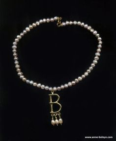 Anne Boleyn B Necklace  Also - do you remember that Ugly Betty wore a necklace like this on that show?