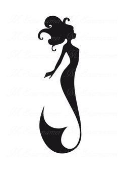 mermaid silhouette - Google Search