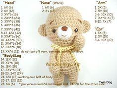 Amigurumi Bear free crochet pattern.