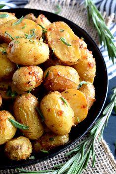 The most humble of all vegetables is absolute perfection in this Roasted Potatoes with Herbs and Crunchy Onions recipe.  Soft and fluffy on the inside with a golden exterior, and paired with simple seasonings and onions. I made a big decision…